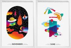 Graphic Calendar 2015 by Daniel Ramirez Perez – Fubiz™ Print Design, Graphic Design, Desk Calendars, Drawing Tips, Flyer Design, Design Inspiration, Drawings, Infographics, Poster