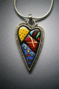 Susan Buckley - Heart pendant on a silver cord
