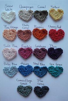 hearts crochet.  Collection#hearts#crochet