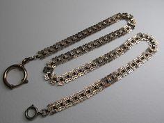 Uhrenkette in Silber vergoldet ° um 1900   eBay