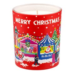 Christmas Orange and Cinnamon Scented Soy Wax Glass Candle | Cath Kidston |