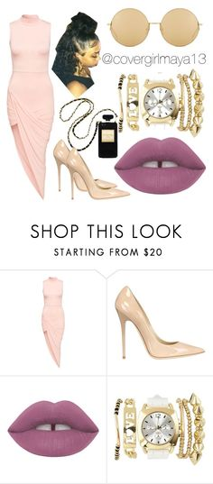 """Untitled #10"" by covergirlmaya13 ❤ liked on Polyvore featuring Club L, Jimmy Choo, Charlotte Russe and Linda Farrow"