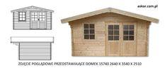 Domek ogrodowy świerkowy drewniany 28 mm narzędziowy 2,6x2,6 askor Michorzewo - image 8