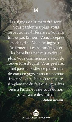 French Love Quotes, Deep Texts, Quote Citation, Life Lesson Quotes, Positive Inspiration, Life Pictures, Some Words, Positive Attitude, Positive Affirmations