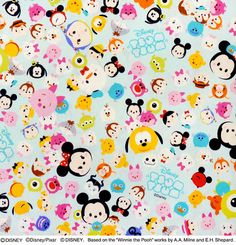 Disney Character Disney tsum tsum fabric Print by beautifulwork