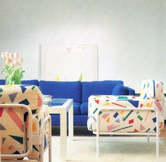 Interior 1980, 80s Interior Design, Danish Interior, 80s Design, Deco Design, Interior And Exterior, Interior Paint, Contemporary Interior, Memphis Design
