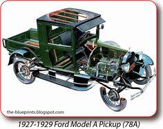 Vintage Cars Ford Model A Pickup - Illustration attributed to Richard W Kirkman Cutaway, Vintage Trucks, Old Trucks, Classic Trucks, Classic Cars, Autos Ford, New Luxury Cars, Bugatti Cars, Chevrolet Trucks
