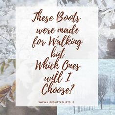 These boots were made for walking, but which one will I choose? - Lifes Little Lifts I Choose Life, Choose Me, Check It Out, What I Wore, Passion For Fashion, Friday, Ootd, Lifestyle, Chic