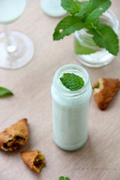 Pale Green Spicy Minty Lassi