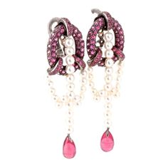 Boucheron pink sapphires and pearls
