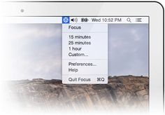 Focus is a Mac app that blocks distracting websites and apps (like Facebook, Reddit and Twitter) so you can steal back your productivity and get some work done!