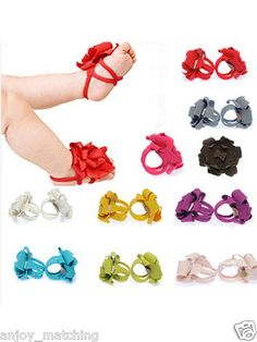 New Fashion Lovely Girl Baby Infant Newborn Toddler Barefoot Sock Sandals Shoes | eBay