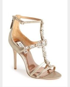 Badgley Mischka Giovanna II Satin Ankle Strap Sandal Women available at Possible wedding shoes