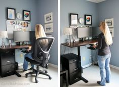 Buying Very Cheap Office Furniture The Right Way – Shabby Chic Home Interiors Home Office Setup, Home Office Space, Home Office Desks, Office Furniture, Office Ideas, Office Decor, Desk Ideas, Office Spaces, Office Chairs