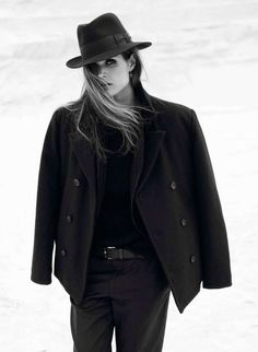 Androgyny | Tailoring, Pea Coat, Fedora | Vogue Paris