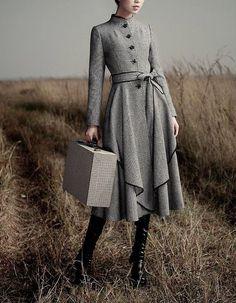 Women's coat 2014 new autumn winter coat Plaid by Lemontree2013