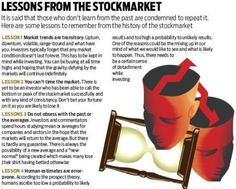 Lessons from stock market