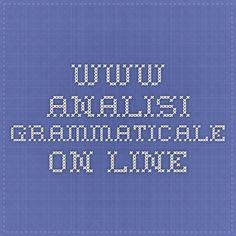 www.analisi-grammaticale ON-LINE