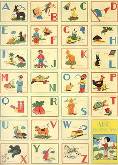 Decorative vintage French alphabet.