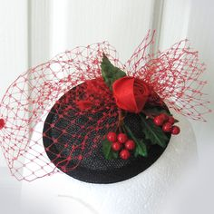 Look Fabulous at those Christmas parties! - a super retro hat from TalulahBlue on Folksy