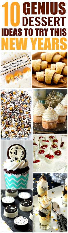 These 10 Easy and Delicious New Year's Dessert Ideas are THE BEST! I'm so glad I found these GREAT recipes! Now I know what I'll make for the holidays! Definitely pinning!