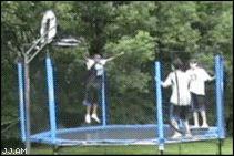 ♥DC♥ 6 trampoline basketball dunk fail (basketball fail gifs)