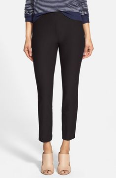 Eileen+Fisher+Notch+Cuff+Slim+Crop+Pants+(Regular+&+Petite)+available+at+#Nordstrom