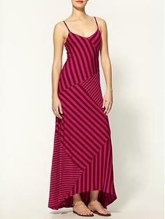 Waldo Stripe Maxi Tank Dress