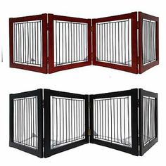 Welland Wood Pet Gate Portable Folding Door Safety Barrier Dog Fence  Multi Size
