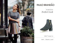 Look Inspiração Fall-Winter 2016 Ref. 5093/01 #PAULOBRANDÃO #shoespaulobrandao #morethanabrandanid #fw2016 #trends #lookswelove #womanpower