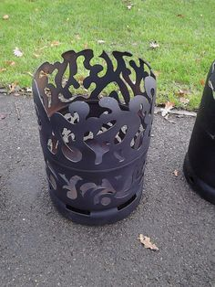 Fire pit/shadow lantern on Gumtree. Fire pits made from upcycled gas bottles de-gas and cut into varying designs then cleaned and painte
