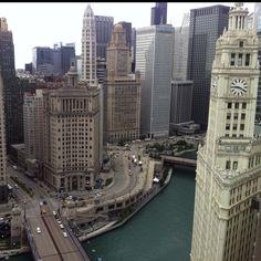 High view. @ Tribune Tower.
