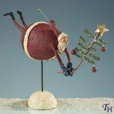Mistletoe Manor Demdaco Flying Santa Collectible Santa Claus Figurine In Box
