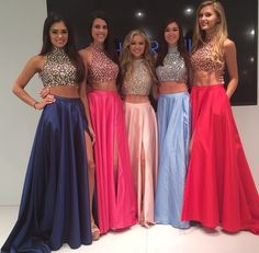 Purple, Hot Pink, Peach, Periwinkle, and Red Prom Dresses