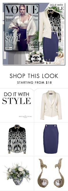 """""""Kate Upton - Vogue Brazil"""" by redflowergirl ❤ liked on Polyvore featuring Miu Miu, Phase Eight, Just Cavalli, Dsquared2, Chanel, Sevan Biçakçi and B Brian Atwood"""