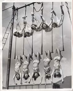Cool vintage aerial pic! #trapeze #summercamp  aerial ballet 1948 | carbonated via Flickr