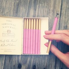 Pink Cigarettes - I don't smoke, but these are still cute! I'd have them in the bar for when we had girls night special occasions