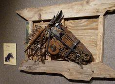 Metal Diva - Scrap metal horse sculpture - Welded Art by Peggi Bell | Garden Art ~ Metal ~ Animals - welderesss@gmail.com - 2014
