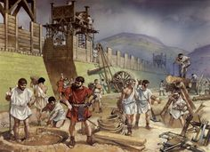 Legionaries building a frontier fort, c.120 AD - Imperial Rome at War