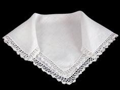 Vintage Linen Crochet Lace Bridal Wedding by littlebitvintage2, $8.99
