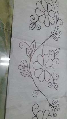 Ribbon Embroidery Flowers by Hand Hand Embroidery Videos, Hand Embroidery Flowers, Simple Embroidery, Crewel Embroidery, Hand Embroidery Patterns, Ribbon Embroidery, Border Embroidery Designs, Quilting Designs, Machine Embroidery Designs