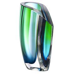 Mirage Vase Green/Blue, Kosta Boda