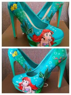 Want! The Little Mermaid Cool High Heels!!                                                                                                                                                     Más