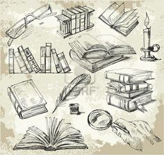 Books and feather quills! All it needs is a coffee/tea cup and a Yarn ball with some knitting needless and it's all about me Writer Tattoo, Book Tattoo, Tattoo Buch, Library Tattoo, Bookish Tattoos, Line Art Vector, Tattoos For Lovers, Book Drawing, Future Tattoos