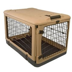The Super Dog Crate Large 42' tan/black by Pet Gear -- Tried it! Love it! Click the image. (This is an amazon affiliate link. I may earn commission from it)