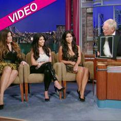 Kardashian Sisters Show Letterman X-Ray Of Kim's Tush | Radar Online