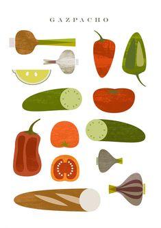 Gazpacho. Printable par MandarinaPrint