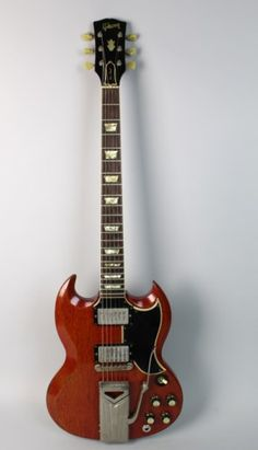 1961 Gibson SG/Les Paul Very Good Overall Condition (See All Photos) Body Finish Is Original Cherry Red Has Mid Gibson SG Neck Installed With Nut, Headstock Appears Modified/Slightly Cu. Sg Guitar, Music Guitar, Guitar Chords, Cool Guitar, Ukulele, Acoustic Guitars, Guitar Logo, Bass Guitars, Guitar Vector