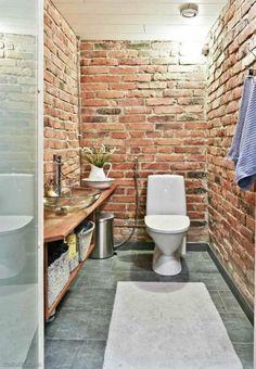 1000 images about toilet design on pinterest red brick for Brick tile bathroom designs