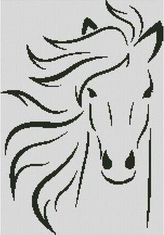 Simple Horse Cross Stitch Pattern #horse #meowstitch #crossstitch #embroidery #needlework #pattern #stitch